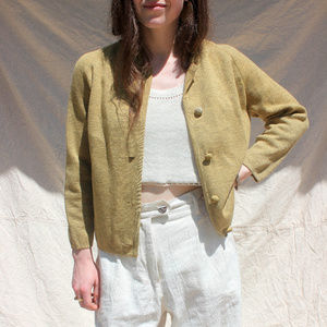 Vintage Wool Cardigan Made in Italy